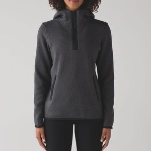 Lululemon It's Fleecing Cold Gray Hooded Pullover